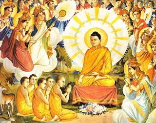 Brahma Asking Lord Buddha to Teach