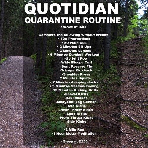 Quarantine-Routine